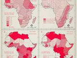 Heat Map Europe 1962 Offset Lithograph Population Map Climate Health