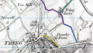 Herts England Map Roads and Those In Tring