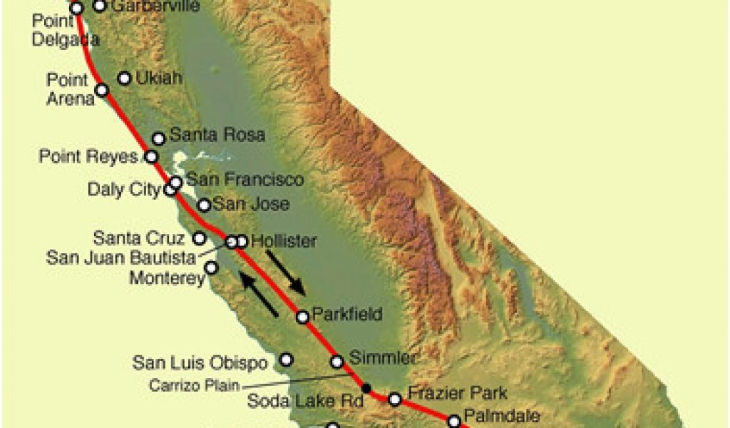Highland California Map San andreas Fault Line Fault Zone ...