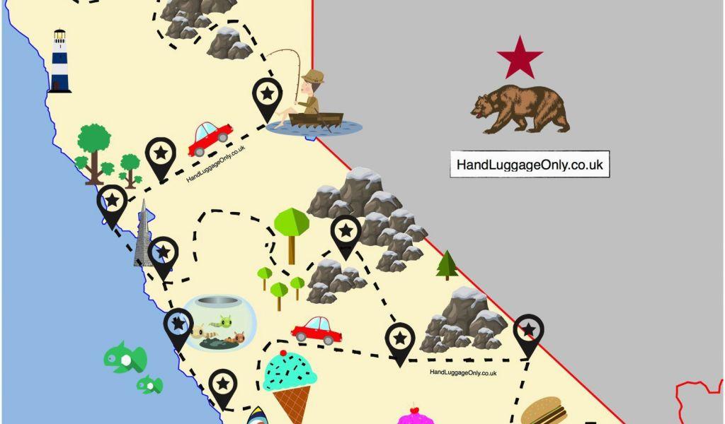 Map Of California Road Trip.Highway 1 California Road Trip Map The Ultimate Road Trip Map Of