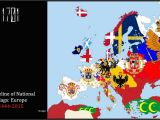 Historical Maps Of Europe Timeline Timeline Of National Flags Europe 1444 2015