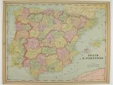 Holland In Europe Map Vintage Spain Map Portugal Holland Map Belgium Denmark Map