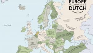 Holland Map In Europe Europe According to the Dutch Europe Map Europe Dutch