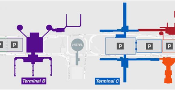 Houston Texas Airport Map Houston Airport Iah Terminal B