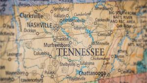 Hurricane Mills Tennessee Map Old Historical City County and State Maps Of Tennessee