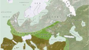 Ice Age Europe Map Ice Age Europe