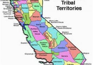 California Native American Map on