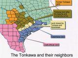 Indian Tribes In Texas Map Karankawa Indians