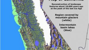 Industry California Map California Glaciation Ice Age Coastal Maps Pinterest