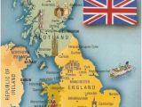 Interactive Map Of England Postcard A La Carte 2 United Kingdom Map Postcards Uk Map Of