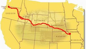 Interactive oregon Trail Map Maps oregon National Historic Trail U S National Park Service