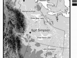 Inuvik Canada Map topographical Map Of the Mackenzie River Basin Field
