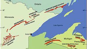 Iron Mountain Michigan Map Gogebic Range Wikipedia