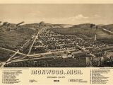 Ironwood Michigan Map Historic Map Of Ironwood Michigan 1886 Ontonagon County Kjaposters