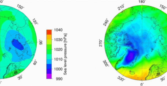 Isobar Map Europe A Sea Level Pressure and B Two Meter Temperature Data