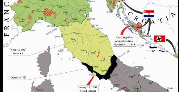 Italy Ww2 Map Map Of the Italian social Republic 1943 1945 Its Territory W