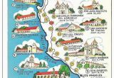 Jamestown California Map Map Of California Missions Built Between 1769 and 1823 Spanish