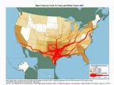 Jodie Texas Map Flow Map Showing tons Moving by Truck and the Number Of Trucks