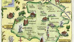 Kent On Map Of England Weald Of Kent Family Heritage Village Map Website Link Map Art