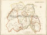 Kings County Ireland Map County Queens County Laois Ireland Map 1837