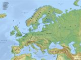 Labeled Physical Map Of Europe Europe Blank Physical Map Lgq Me