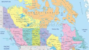 Labelled Map Of Canada Capitals and States Of Canada