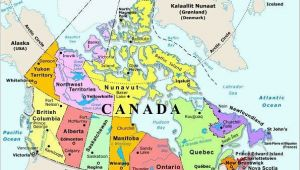 Labelled Map Of Canada with Capitals Map Of Canada with Capital Cities and Bodies Of Water thats
