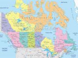 Labled Map Of Canada Capitals and States Of Canada