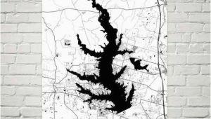 Lake Conroe Texas Map Lake Conroe Texas Lake Conroe Tx Texas Map Texas Decor Lake Map