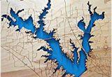 Lake fork Texas Map Amazon Com Cree Lake Indiana Framed Wood Map Wall Hanging Handmade