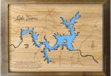 Lake fork Texas Map Texas Lake Map Etsy