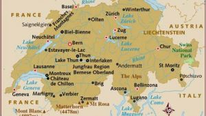 Lake Geneva Map Europe Map Of Switzerland