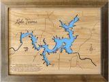 Lake Kiowa Texas Map Texas Lake Map Etsy