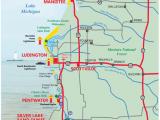 Lake Michigan Beaches Map West Michigan Guides West Michigan Map Lakeshore Region Ludington