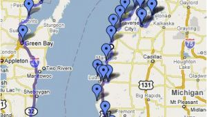Lake Michigan Lighthouse Map Lake Michigan Circle tour Great Info On This Web Site