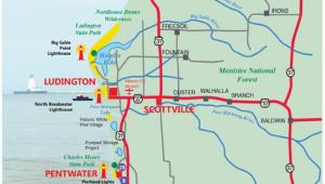 Lake Michigan On A Map West Michigan Guides West Michigan Map Lakeshore Region Ludington