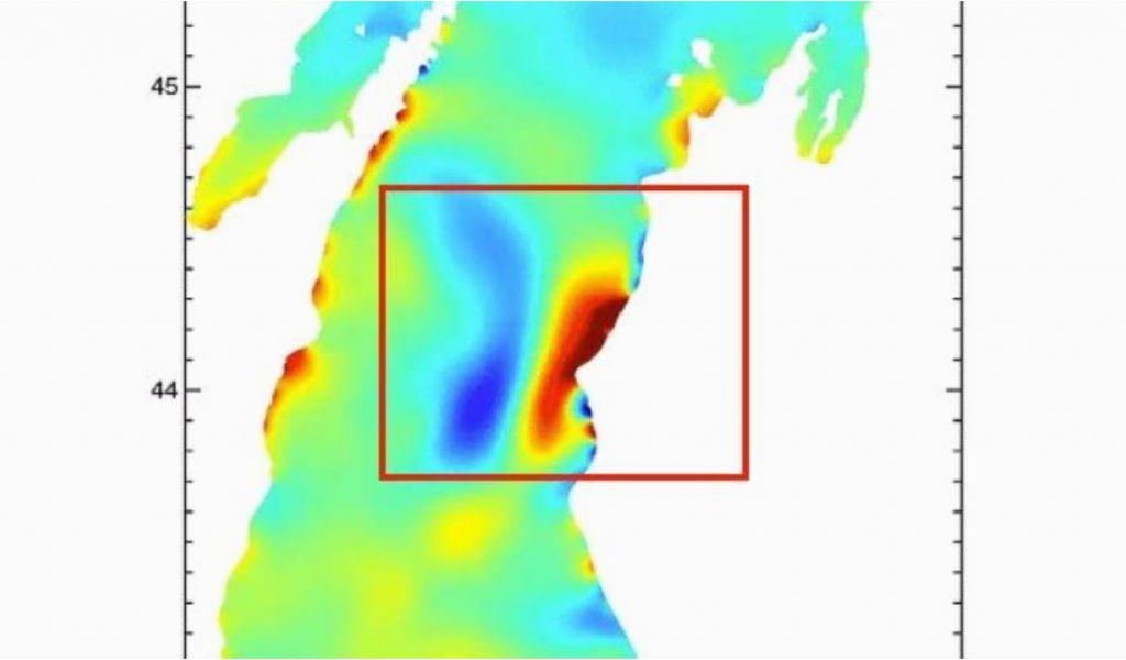 Lake Michigan Temperature Map Two Meteotsunamis form On Lake