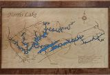 Lake norris Tennessee Map Amazon Com norris Lake Tennessee Framed Wood Map Wall Hanging