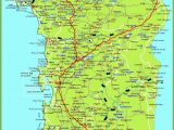 Lake Region Italy Map Large Detailed Map Of Sardinia with Cities towns and Roads