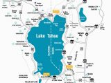 Lake Tahoe On Map Of California Lake Tahoe Maps and Reno Maps Labeled Map Lake Tahoe California