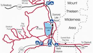 Lakes In oregon Map Diamond Lake Map Snowmobiles Diamond Lake oregon Vacation