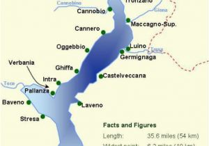 Lakes Italy Map Map with All the towns On Lake Maggiore You Can See that the Lake