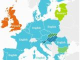 Languages In Europe Map Second Most Spoken Languages In Eu Language Second