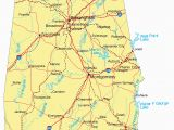 Large Map Of Alabama Large Detailed Highways Map Of Alabama with Major Cities Picture