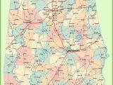 Large Map Of Alabama Large Detailed Map Of Alabama