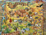 Large Map Of Arizona Illustrated Arizona Map Tristan S Hideout A O Arizona Arizona