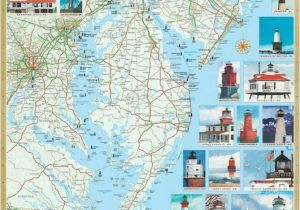 Lighthouses In north Carolina Map Mid atlantic Lighthouses Map the Illustrated Map and Guide to All