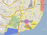Lisbon Map Europe Lisbon Neighborhoods Districts Interesting areas In