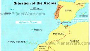 Lisbon Spain Map Azores islands Map Portugal Spain Morocco Western Sahara