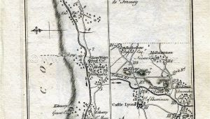Lismore Ireland Map 1778 Taylor Skinner Antique Ireland Road Map 125 126 Fermoy